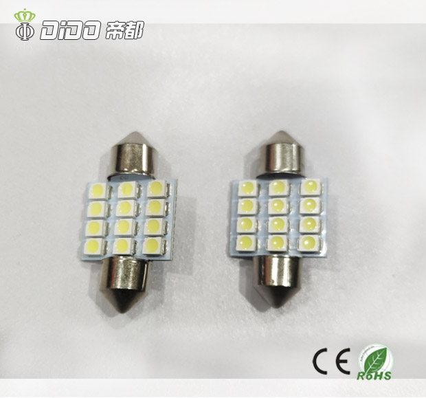 Car LED Bulb Festoon 6SMD 3030 LED Dome Lights